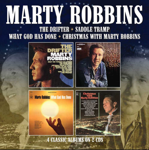 ROBBINS, MARTY - The Drifter + Saddle Tramp + What God Has Done + Christmas With Marty Robbins